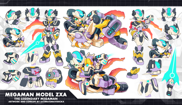 MMZX Ultimus- Megaman Model ZXA Concept by ultimatemaverickx