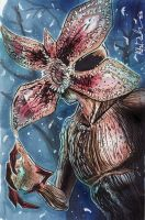 The Demogorgon Sketch Card by KileyBeecher