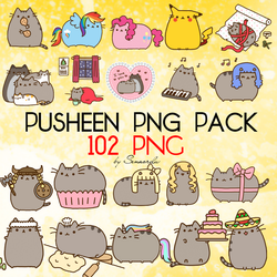 Pusheen PNG Pack by NavySenaOrdu