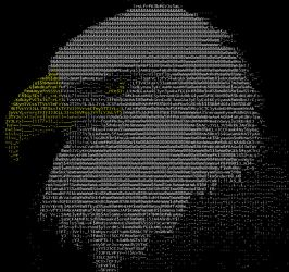 ASCII Eagle by KDASthenerd
