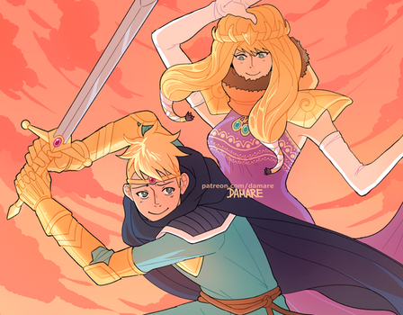 Princess Kenny x Paladin Butters by Damare