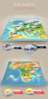 3D Earth Weather Infographic News by kadayoub