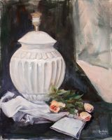 Still life with lamp and roses by Igson93