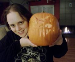 Cat Bus Carving (Halloween 2013) by SpellboundFox