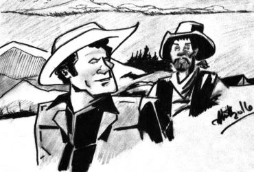 Tv western duo in india ink n pencil by donwhitt