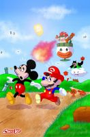 Mario and Mickey by Chris-V981