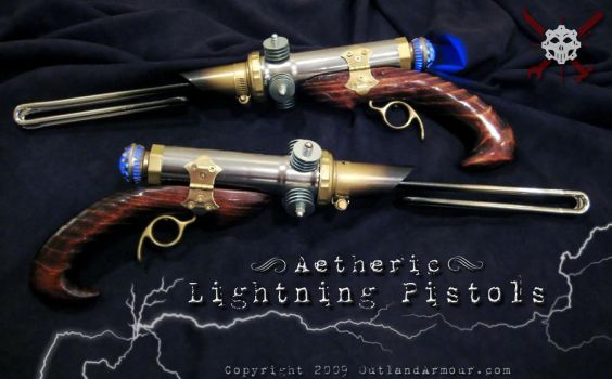 Aetheric Lightning Pistols by VynetteDantes