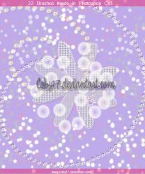 Glitters and Flowers Brushes by Coby17