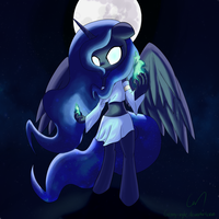 Magical Anthro Luna by Greeny-Nyte