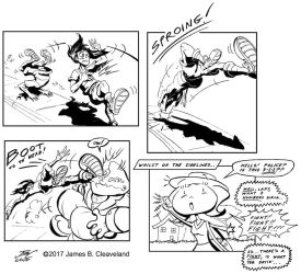 Lari vs. Rocko, part 3 by jimcleaveland