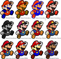 Paper Mario Colours by Doctor-G
