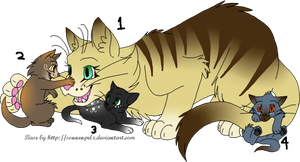 Cat Family Adopts [1/4 OPEN] by TuftsDoubleU