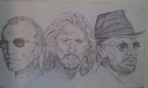Bee Gees by jonathanglossop