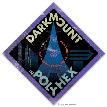 Travel sticker: Darkmount by MattDrawsRobots
