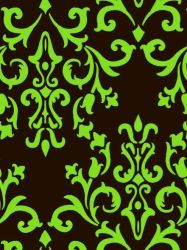 Green Damask by allimrac