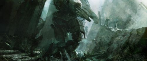 mecha in warzone by leventep