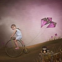 Life is like riding a bicycle by Fran-photo