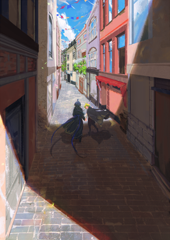 Small little street by Rene-Elric