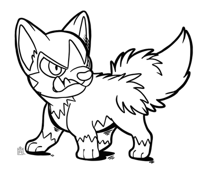Poochyena Free to use lineart! by Scuterr