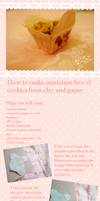 Miniature cookies and cookie box TUTORIAL by KawaiiPetitPois