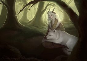 Echo in the Woods by viiolaceus