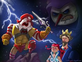 Fast Food Mascots of the Universe by JeffVictor