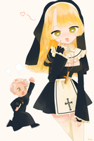 Pretty Nun by rota-ko