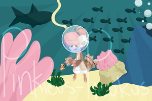 Nia and baby clown fish by Em-Lilly-Lavender