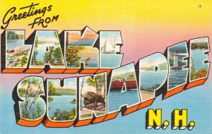 Large Letter Postcard - Lake Sunapee NH by Yesterdays-Paper