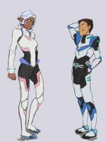 Lance and Allura - Voltron by Bariarti