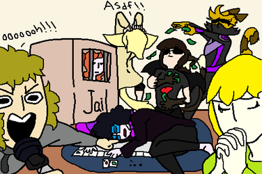 Chaotic game night by Sammy-ShinyVictini