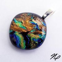Fused Dichroic Glass Pendant by Create-A-Pendant