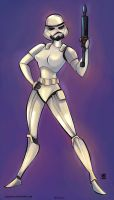 Storm troopers Female Star Wars by celaoxxx