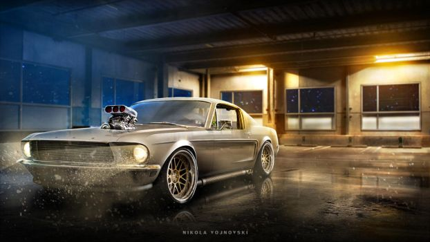Custom Mustang Wallpaper by extremebt