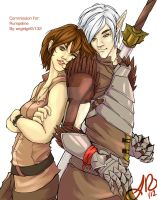Commission: Fenris and Liz by angelgirl5132