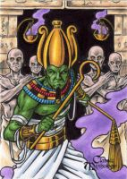 Osiris Sketch Card - Tony Perna by Pernastudios