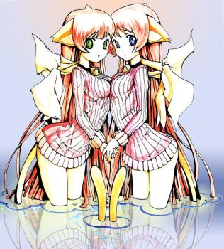 Twin Cats Hime by EUDETENIS