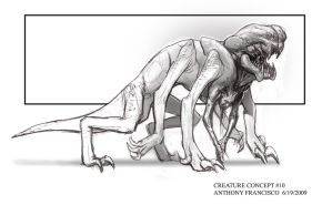 Creature Parasite Alien by Ubermonster
