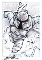 Boba Fett Sketch Card by stratosmacca