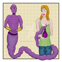 The Genie and the girl by hippo2
