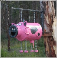Pink Cow Mail Box by JohnK222