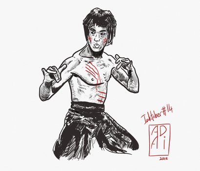 Bruce Lee - The Dragon. by AadiMK