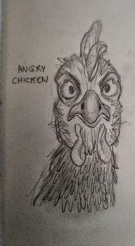 angry chicken  by Zeena-h