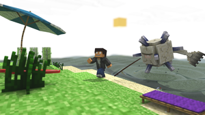 Guardian Encounter (Minecraft) by Carro1001