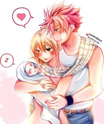 Collab Art (Cute NaLu Family) by AyuMichi-me
