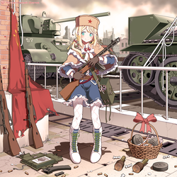PPSh-41, colored. by Circle-A