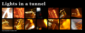 Lights in a tunnel by Rogerdatter