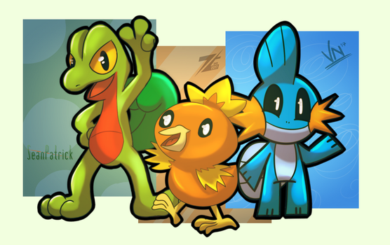 [COLLAB] Pkmn - Hoenn Starters by ZoomTorch20