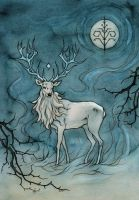 white stag by LiigaKlavina