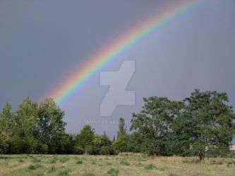 Rainbow above the Dog Meadow by Amatao